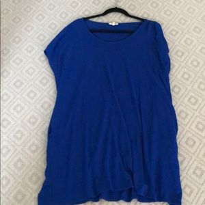 Aritzia/Wilfred Royal blue mini dress. Size small